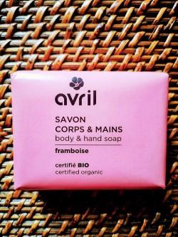 Savon bio et vegan Framboise corps et mains 100 g | Tilleulmenthe Boutique de mode femme en ligne