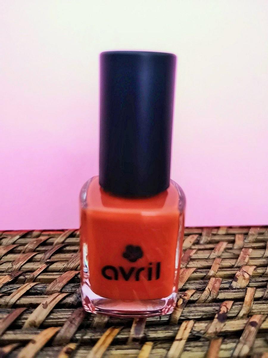 Vernis à ongles vegan longue tenue Orange brillant Tangerine 7 ml   Tilleulmenthe Boutique de mode femme en ligne