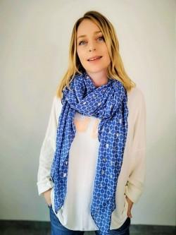 Foulard bleu ciel l 1 vue de face l Tilleulmenthe boutique de mode femme