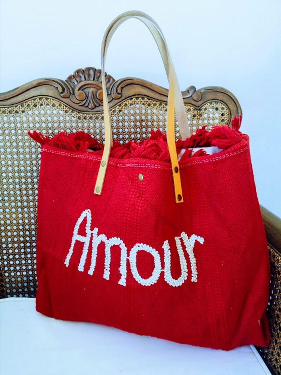 Cabas amour rouge l 1 vue entier l Tilleulmenthe boutique de mode femme