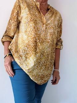 Angèle blouse petites fleurs l 2 vue 3/4 l Tilleulmenthe boutique de mode femme