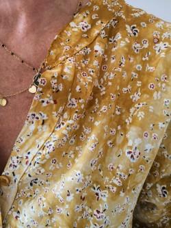 Blouse Angèle petites fleurs l 3 vue détails imprimés l Tilleulmenthe boutique de mode femme