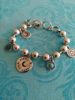 Bracelet Eclipse Ciclon l 1 vue sur fond turquoise l Tilleulmenthe boutique de mode femme