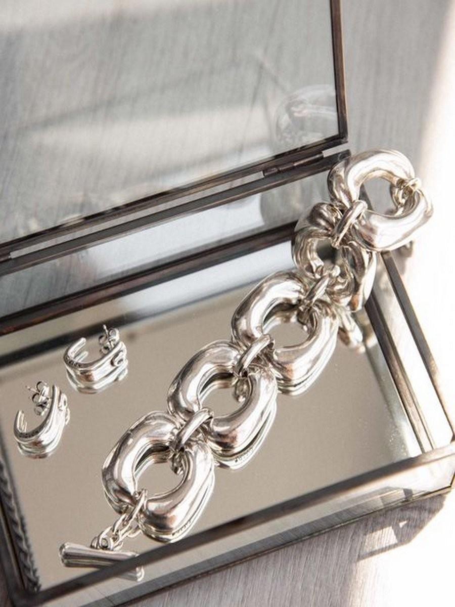 Bracelet Ciclon plaqué argent collection cube 1 l La mode au féminin prêt à porter femmes vêtements originaux fashion